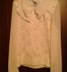 Блузка белая рост 140