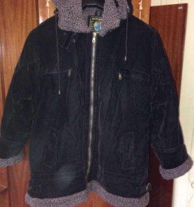 Куртка на меху  с капюшоном 50-52