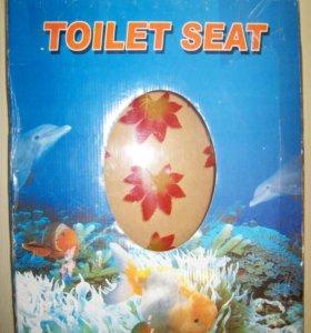 Крышка сиденье для унитаза стеклопластик новая
