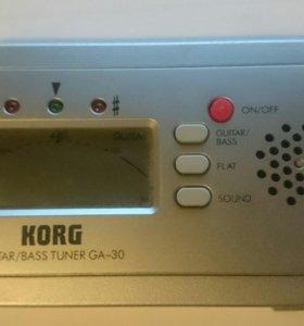 Цифровой тюнер для гитар и бас-гитар Korg GA 30
