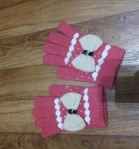Очень красивые осении перчатки для девочки
