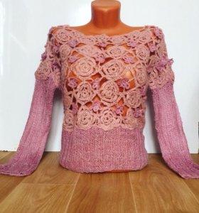 Эксклюзивный свитер ручной работы