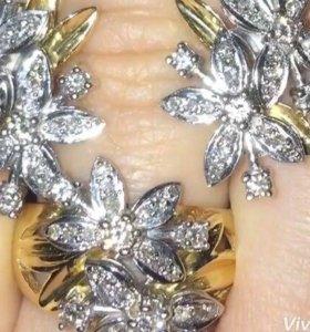 Комплект бриллиантовый и подвеска капля брилл