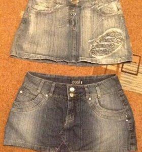 Юбки джинсовые