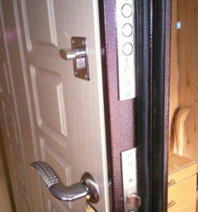 Установка металл двери