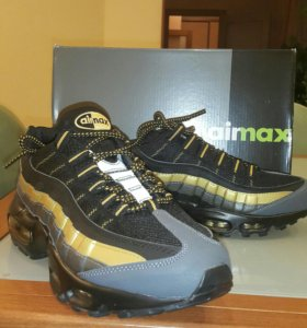 Кроссовки Nike Air Max 95 black/ gold/ carbon grey