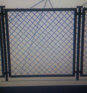 Забор из рабицы в уголке h1550
