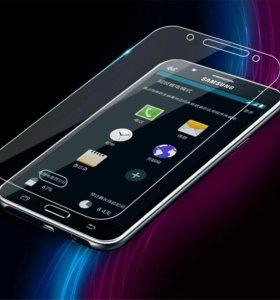 Защитное стекло Samsung, iPhone...