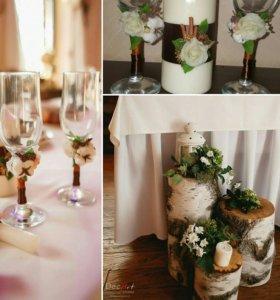 Оформление, декор вашей свадьбы живыми цветами