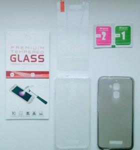 На asus zenfone 3 max защитные стекла и чехлы