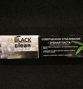 Зубная паста с микрочастицами черного угля
