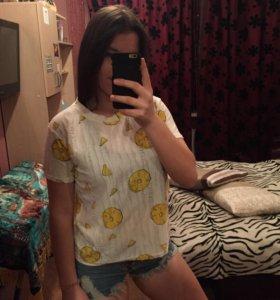 летняя футболка, футболка с ананасами 🍍