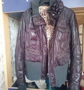 Куртка внутри натуральный мех