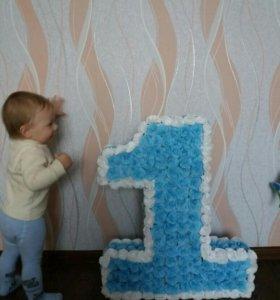 Объёмная цифра для вашего малыша
