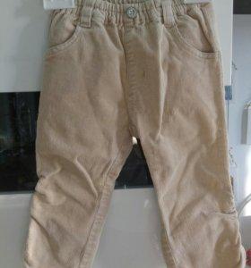 Вельветовые штанишки 1-2 года