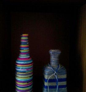 Красивые бутылочки для интерьера