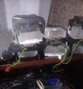 Радиаторы с кулерами на процессоры