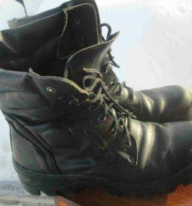Берцы ботинки мужские, размер 45 (нат. кожа)