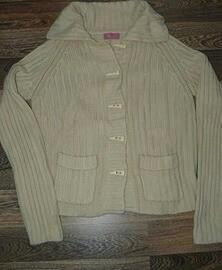 Кофта - Джемпер на пуговицах вязанная с карманами