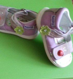 Босоножки туфли нат.кожа и замша для девочкир.23