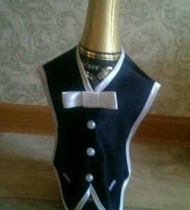Жених и невеста украшения для шампанского