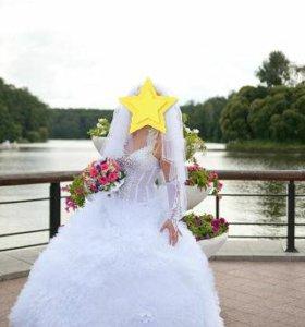 Свадебное платье от 44 до 48р