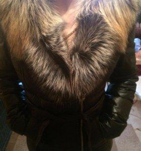 Кожаная куртка новая с натуральным мехом