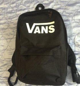 Новый фирменный рюкзак Vans. Жёсткая спинка
