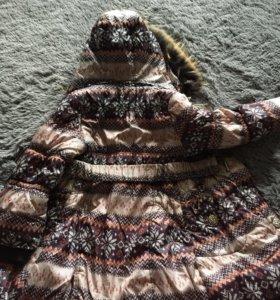 Зимняя куртка для девочки р.122