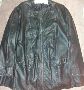 Кожаная куртка женская 54-56 размер