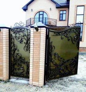 Кованые ворота, калитки, заборы...