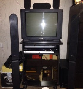 Телевизор, домашний кинотеатр, подставка.