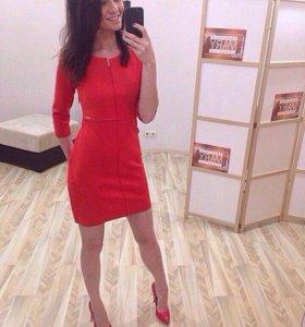 Стильное новое замшевое платье