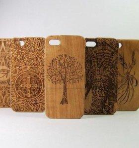Чехлы из Дерева для iPhone