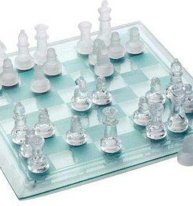 Шахматы стеклянные (сред)