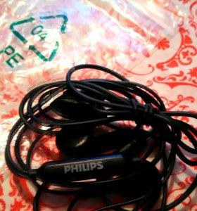 Наушники Philips новые