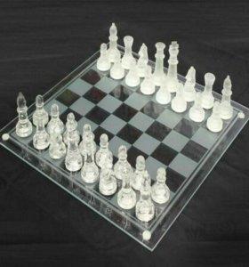 Шахматы стеклянные большие