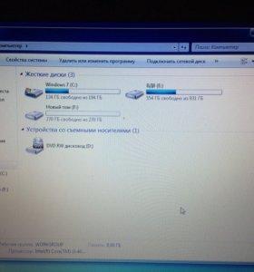 Продам ноутбук проц i3-4000M