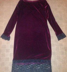 Продам платье цвет бургундия(бордо) под бархат.