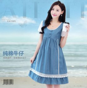 Джинсовое платье летнее для будущих мам