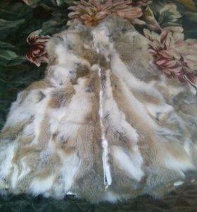 Меховая жилетка. Натуральный кролик