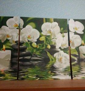 картина с лилиями