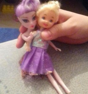 Кукла монстр хай и дочь барби