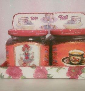 Набор банок для чая и кофе