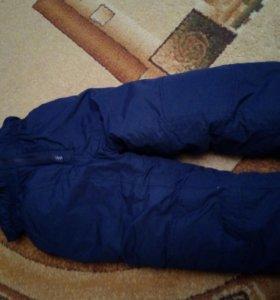 Детские утепленные штаны на 4-5 лет