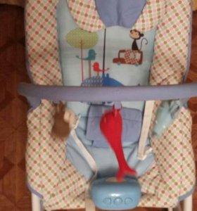 Детский шезлонг с вибрацией Sweet Baby Zoo