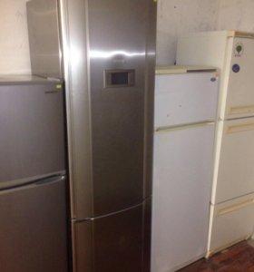 Холодильник Gorenje стальной, 2х компрессо