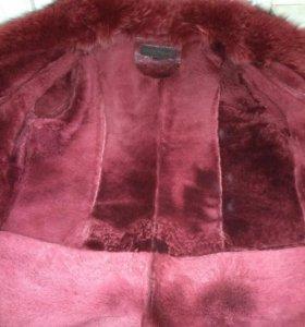 Куртка женская кожаная,с натуральным мехом