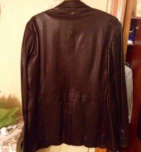 Кожаный мужской пиджак , из Лайкры