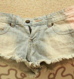 Шорты джинсовые,короткие